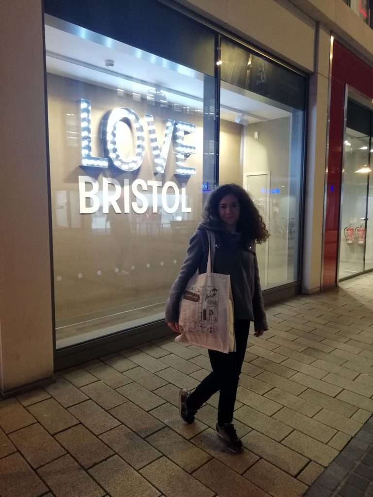 La Bolsa Viajera en Bristol con Vivian.