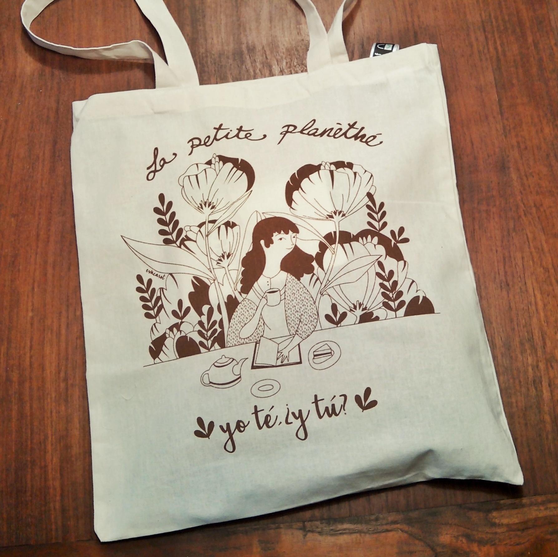 Bolsa de Algodón. Ilustración de Eva Carot - Edición Limitada 2016 - 6º Aniversario