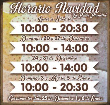 CARTEL Horario NAVIDAD 2015 v1