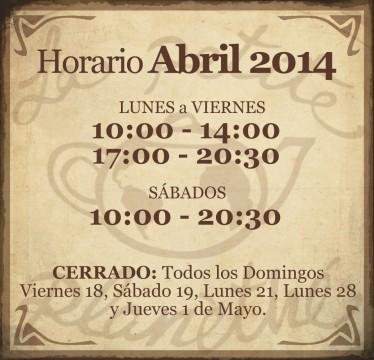 Horario Abril 2014