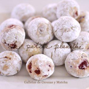 Galletas Artesanas de Cerezas y Matcha
