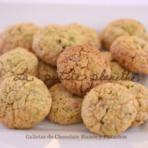 Galletas Artesanas de Chocolate Blanco y Pistachos