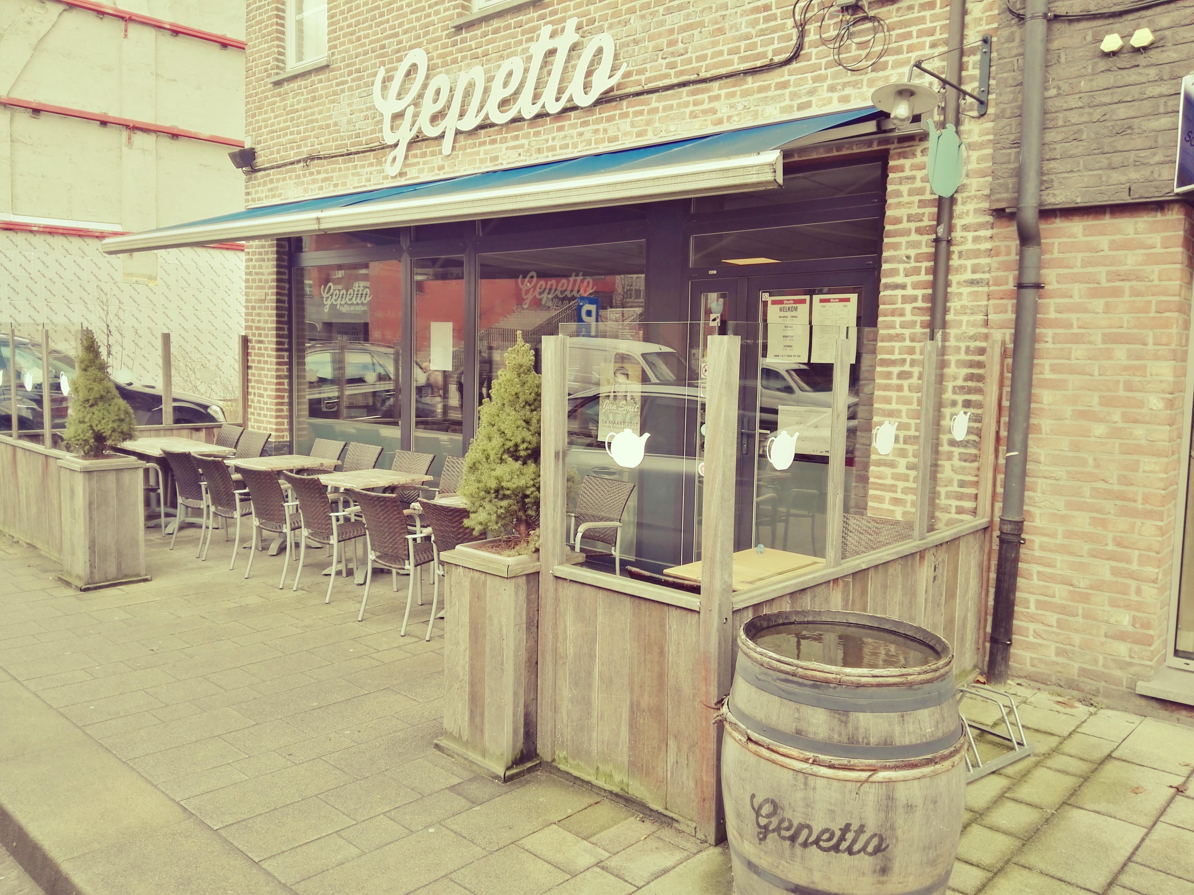 Gepetto. Koffie en eethuis.