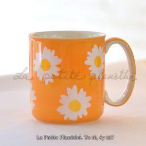 Jumbo mug Aloha Orange. Taza de cerámica.