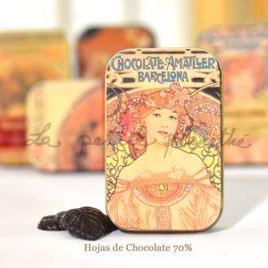 Hojas de Chocolate 70%
