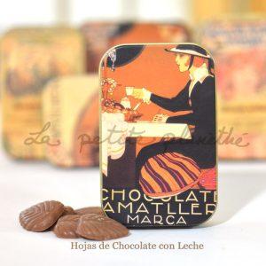 Lata de Hojas de Chocolate con leche, 30g