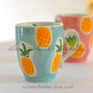 Mug Piña Azul 300ml