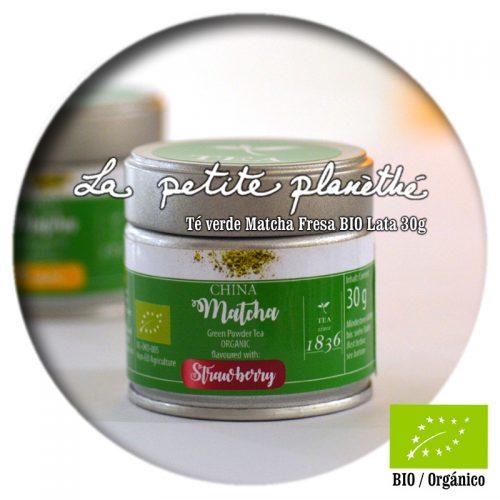 Té verde Matcha Fresa BIO 30g