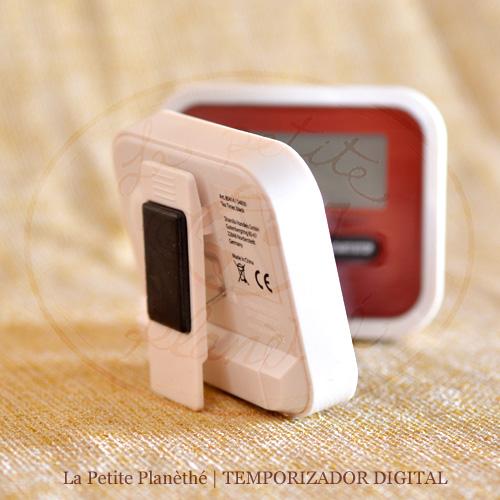 Temporizador digital con avisador acústico.