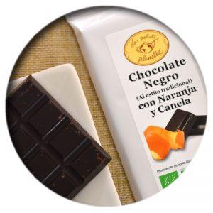 Tableta Chocolate Negro con Naranja y Canela