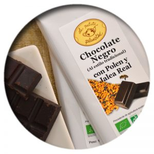 Tableta Chocolate Negro con Polen y Jalea Real BIO