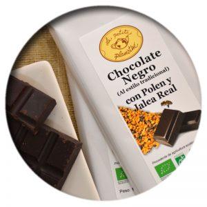 Tableta Chocolate Negro con Polen y Jalea Real BIO