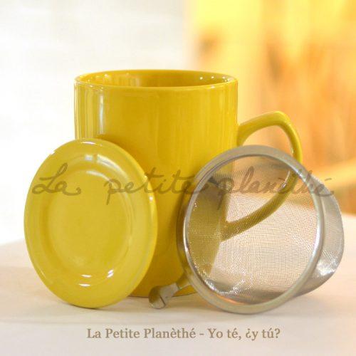Taza con infusor Colours Amarillo y filtro