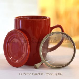Taza con infusor Colours Rojo y filtro