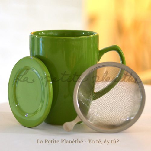 Taza con infusor Colours Verde y filtro