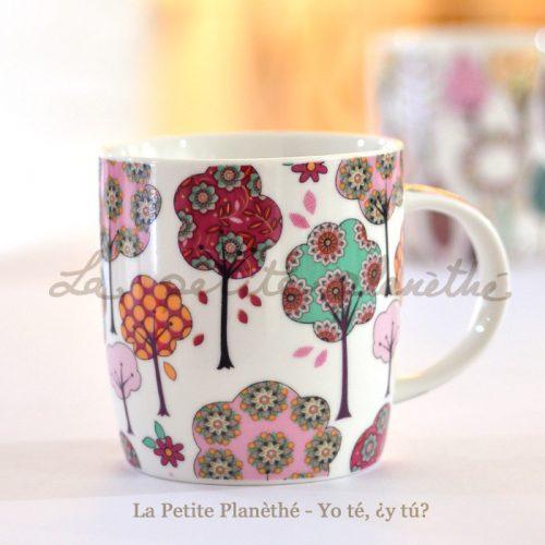 Taza de porcelana Iska - flores