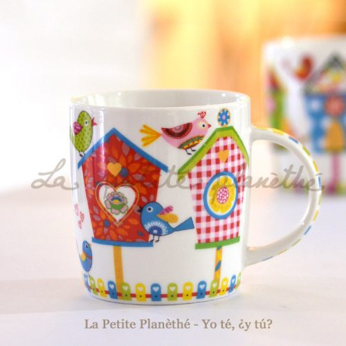 Taza de porcelana Pio rojo