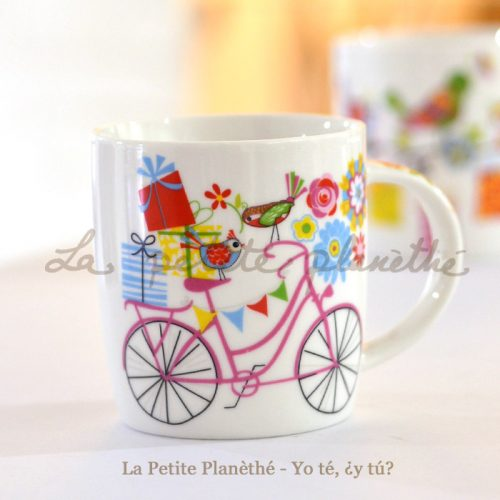 Taza de porcelana Primavera - Bici
