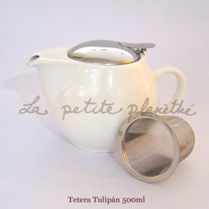 Tetera Tulipán Blanco 500ml