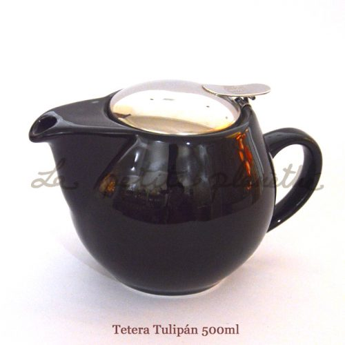 Tetera Tulipán Negro 500ml