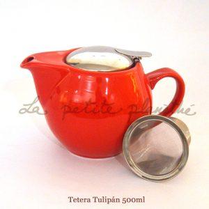 Tetera Tulipán Rojo 500ml
