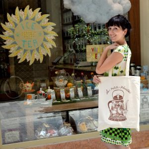 Bolsa Shopping  de algodón, ilustración de JulietaXLF (Tote Bag 2014)
