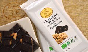 chocolate negro con cacahuetes BIO