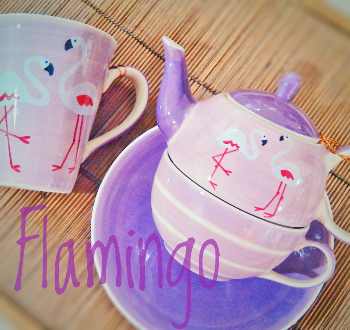 Taza y Tea For One Flamingo