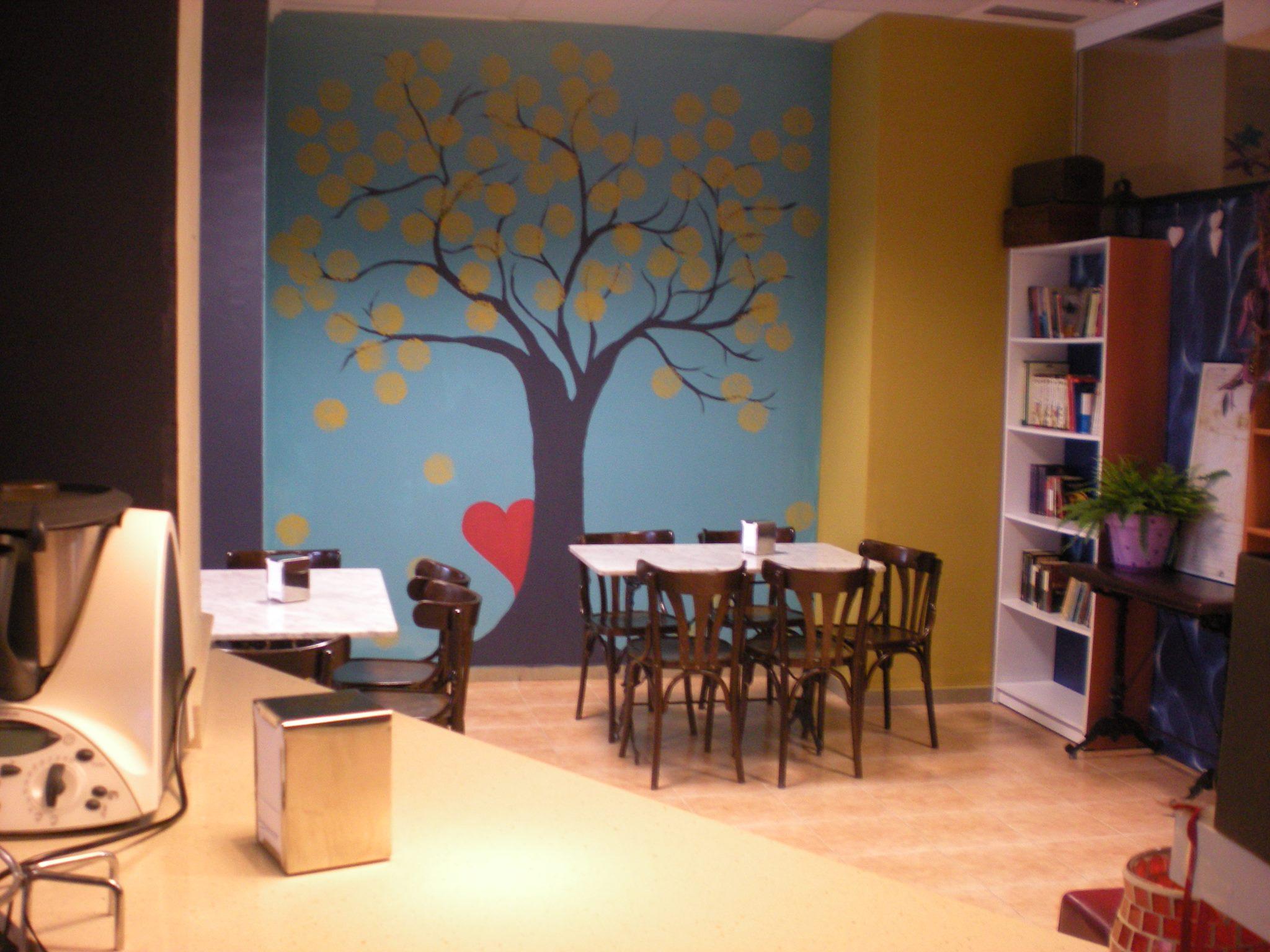 El interior y sus librerías