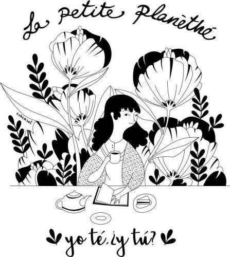 Ilustración de Eva Carot para bolsa de algodón.