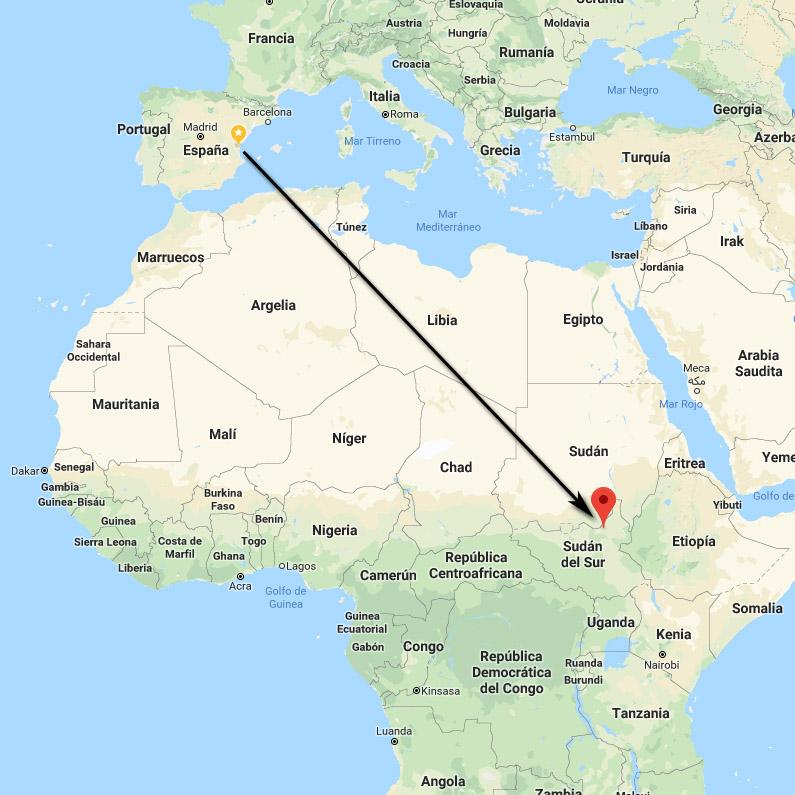 Mapa Malakal, Sudán del Sur