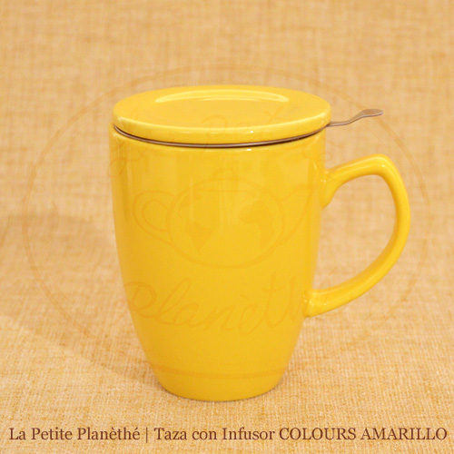 mug con infusor COLOURS AMARILLO