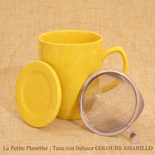 mug con infusor COLOURS AMARILLO