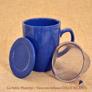 mug con infusor COLOURS AZUL