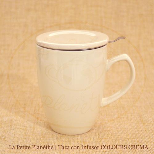 mug con infusor COLOURS CREMA