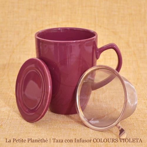 mug con infusor COLOURS VIOLETA