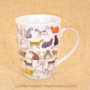 Mug de porcelana GATOS