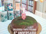 Tarta Vegana 8º Aniversario