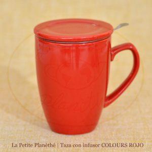 taza con infusor COLOURS ROJO 1