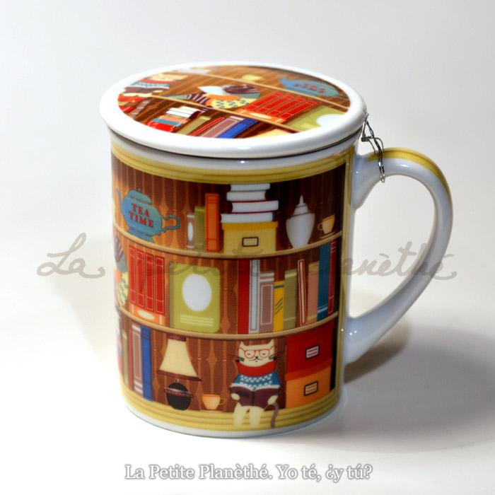 Taza con infusor Librería