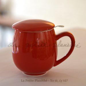 Taza con infusor Tulipán Rojo