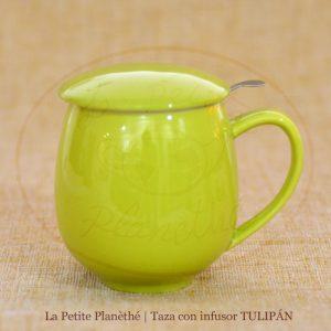 taza con infusor tulipan lima 1