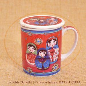 taza con infusor MATROSCHKA